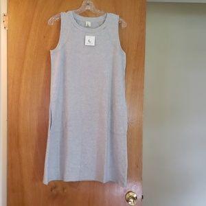 Brand New Women's Gray Heathered Sleeveless Dress
